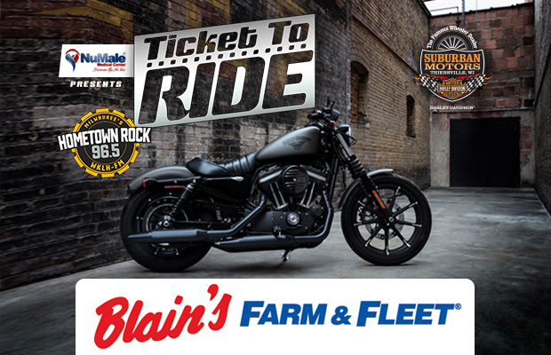 Qualify for KLH's Ticket To Ride at Blain's Farm & Fleet